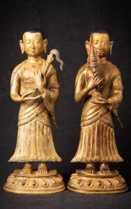 Nepali gilded monks about 50 years old iexcellent quality